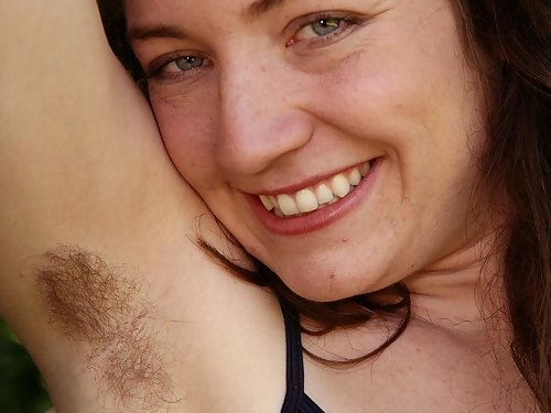 Hairy pussy nature girl spreading her snatch