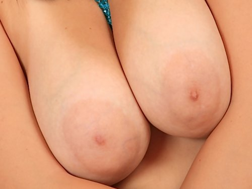 Sexy brunette with big tits and nipples