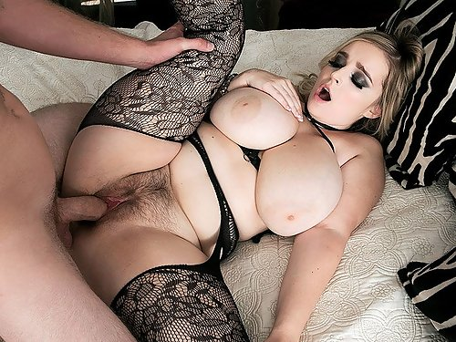 Chubby hairy blonde with big tits getting fucked
