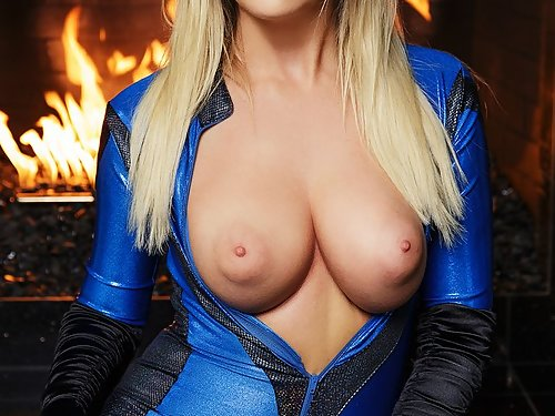 Busty blonde Alexis Adams fucking in a cosplay costume