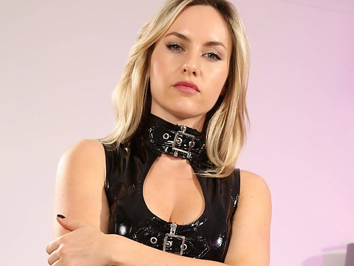 Natasha Anastasia Takes off her PVC Dress