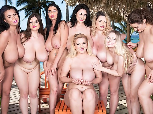 A fine group of chubby girl with huge tits