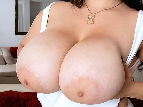 Chubby Latina with huge tits masturbating