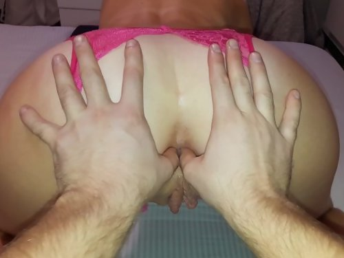 Horny gamer girl getting fucked in the ass